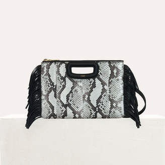 Maje M Duo clutch in python leather