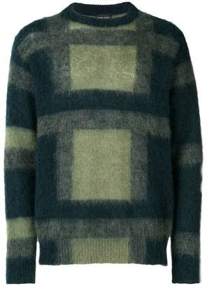 Roberto Collina check knitted jumper
