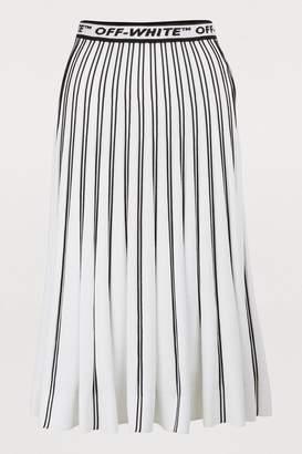 Off-White Off White Pleated midi skirt