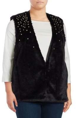 MICHAEL Michael Kors Faux Fur Studded Vest