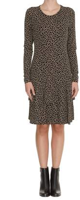 Michael Kors Leopard Crew Neck Dress