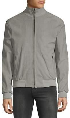 Brioni Men's Plaid Leather Jacket