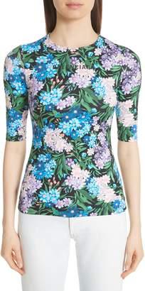 Balenciaga Floral Print Jersey Tee