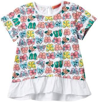 Funkyberry Butterfly Peplum Top (Toddler & Little Girls)