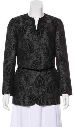 d7f7a180 Ellen Tracy Linda Allard Embroidered Collarless Blazer