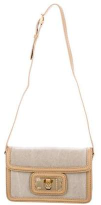 Zadig & Voltaire Leather-Trimmed Canvas Flap Bag