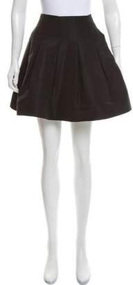 Oscar de la Renta Pleated Mini Skirt