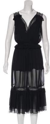 Jonathan Simkhai Silk Lace-Trimmed Dress