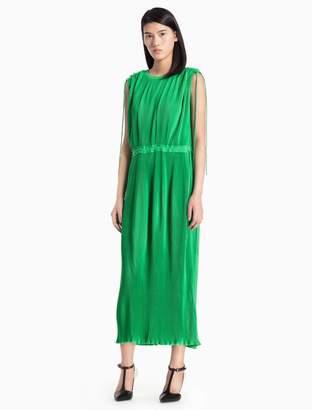 Calvin Klein fluid pleated dress