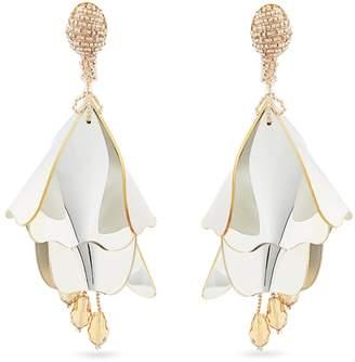 OSCAR DE LA RENTA Impatiens clip-on earrings