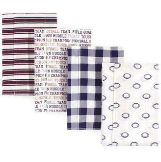 Hudson Baby Layered Flannel Burp Cloths, 4 Pack