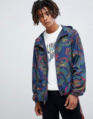 Billionaire Boys Club paisley print jacket with hood in blue