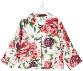 Dolce & Gabbana floral pajama shirt