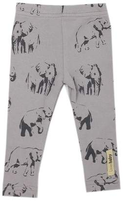 L'ovedbaby Leggings 100% Organic Cotton Elephant Grey 9 to 12 Months