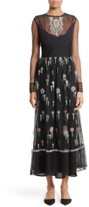 Women's Red Valentino Floral Embroidered Dress $1,495 thestylecure.com
