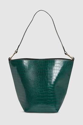 Next Womens Dark Green Bucket Bag