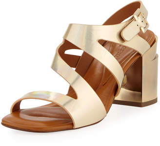 Robert Clergerie Above Metallic Strappy Sandals