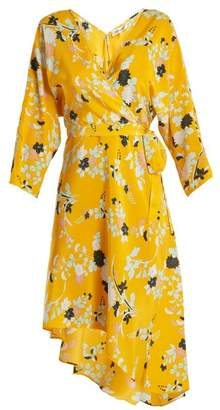 Diane von Furstenberg Eloise Silk Wrap Dress - Womens - Yellow Print