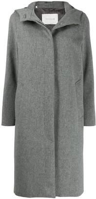 MACKINTOSH CHRYSTON Light Grey Storm System Wool Hooded Coat LM-1019F