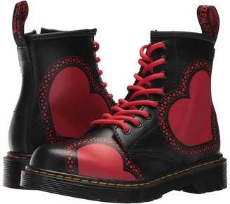 Dr. Martens Kid's Collection Delaney HRT 8-Eye Boot Girls Shoes