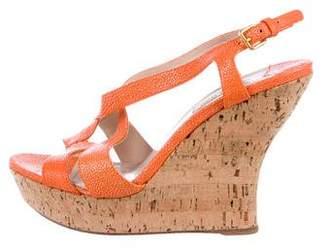 Miu Miu Stingray Wedge Sandals