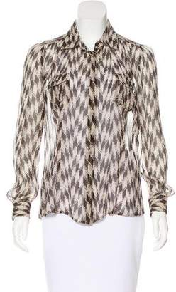 Loro Piana Silk Printed Blouse