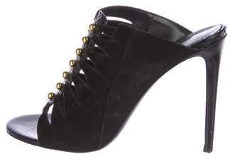 Tamara Mellon Suede Slide Sandals