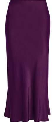 Iris & Ink Brooklyn Satin Midi Skirt