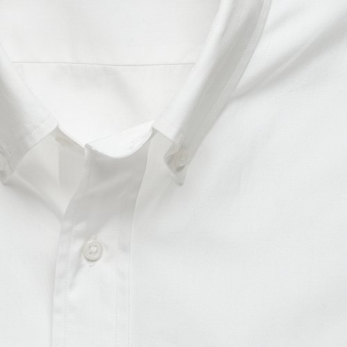 Solid button-down tailored-fit dress shirt
