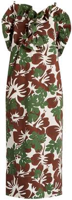 Rosie Assoulin Blooming Onion tropical-print stretch-cotton dress