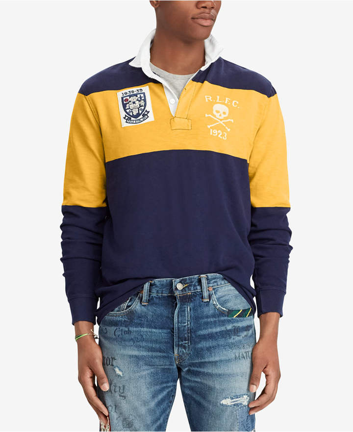 Polo Ralph Lauren Men's Big & Tall Classic-Fit Jersey Rugby Shirt