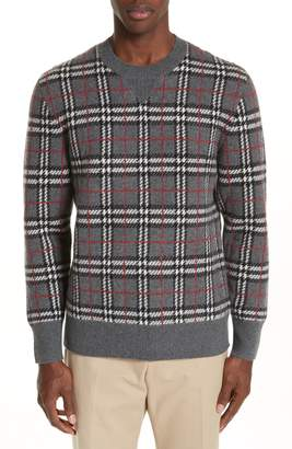 Burberry Banbury Check Cashmere Sweater