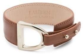 Lauren Ralph Lauren Leather Buckle Bracelet