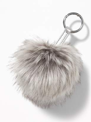 Old Navy Faux-Fur Pom-Pom Key Chain for Women