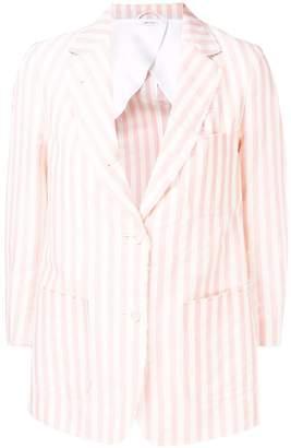 Thom Browne Wide Stripe Mohair Sack Jacket