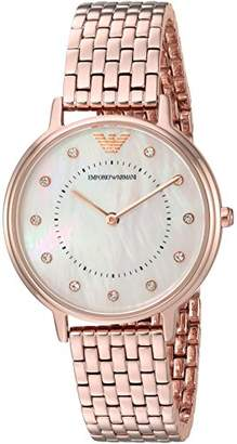 Emporio Armani Women's 'Kappa' Quartz and Stainless-Steel-Plated Casual Watch