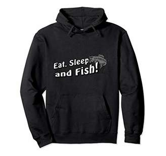 Eat Sleep and Fish Jacket Funny Fishing Lover Hoodie