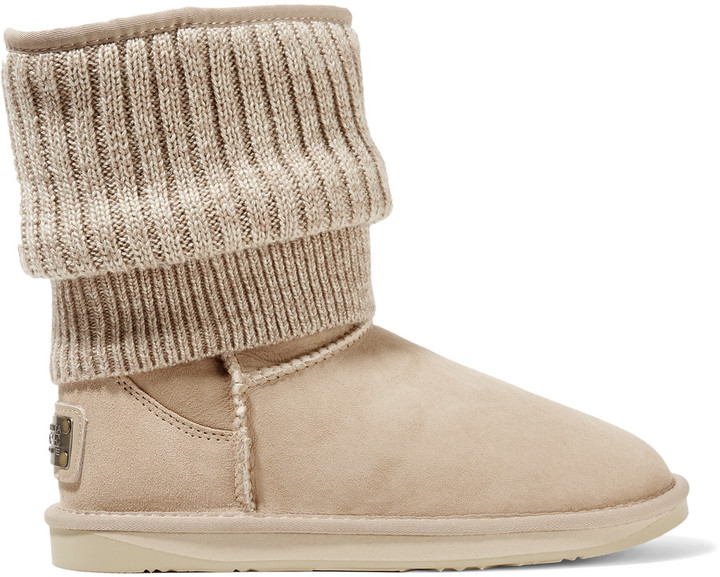 Australia Luxe CollectiveAustralia Luxe Collective Fame ribbed-knit and shearling boots