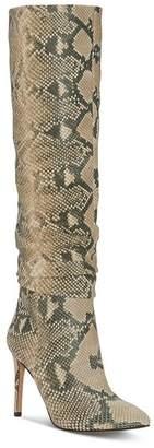 Vince Camuto Women's Kashiana Snake-Print Tall Boots