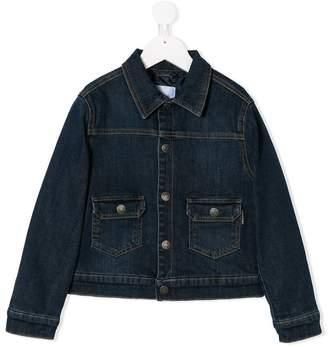 Moschino Kids TEEN embroidered denim jacket