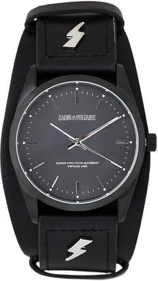 Zadig & Voltaire ZVF417 Black Lightening Bolt Cuff Watch