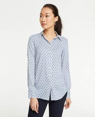 Ann Taylor Tall Chain Link Perfect Shirt