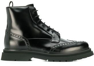 Prada brushed combat boots