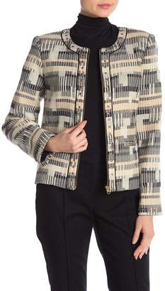 Badgley Mischka Metallic Studded Crop Jacket