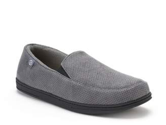 Isotoner Men's Ian Perforated Microsuede Slippers