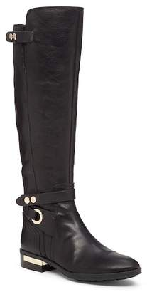 Vince Camuto Tall Buckled Leather Riding Boot