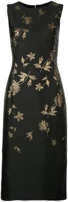 Oscar de la Renta jacquard floral dress