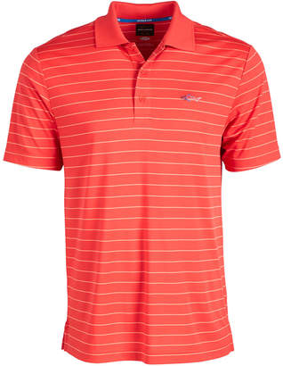Greg Norman Attack Life by Men 5 Iron Stripe Polo