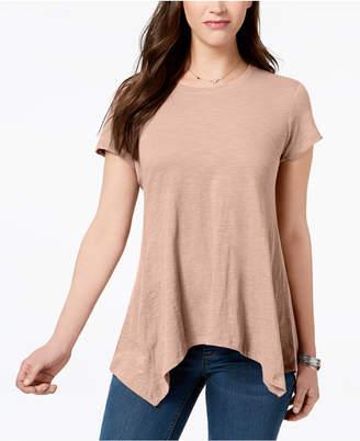 Style&Co. Style & Co Handkerchief-Hem T-Shirt, Created for Macy's