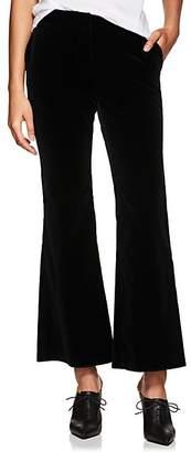 Nili Lotan Women's Cotton Velvet Crop Flared Pants - Black